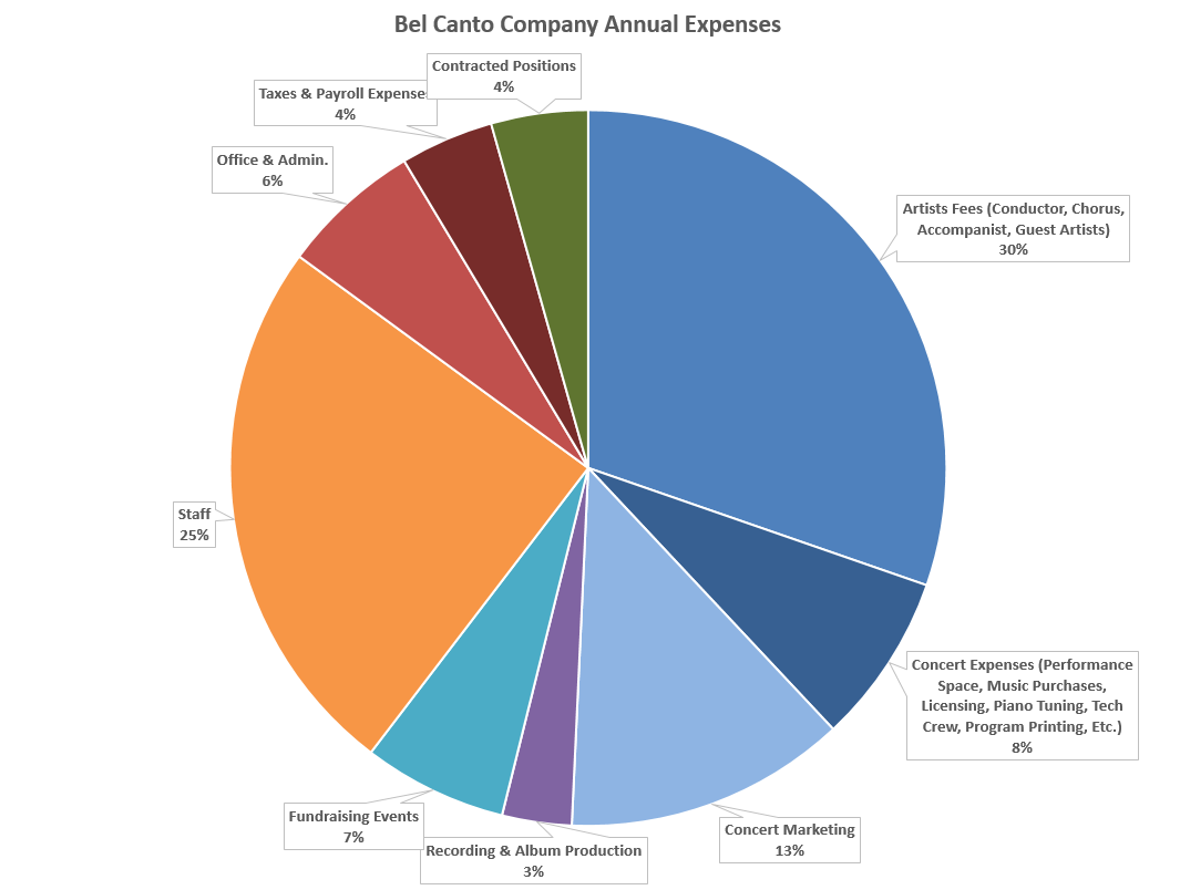 Bel Canto Company Annual Expenses Chart