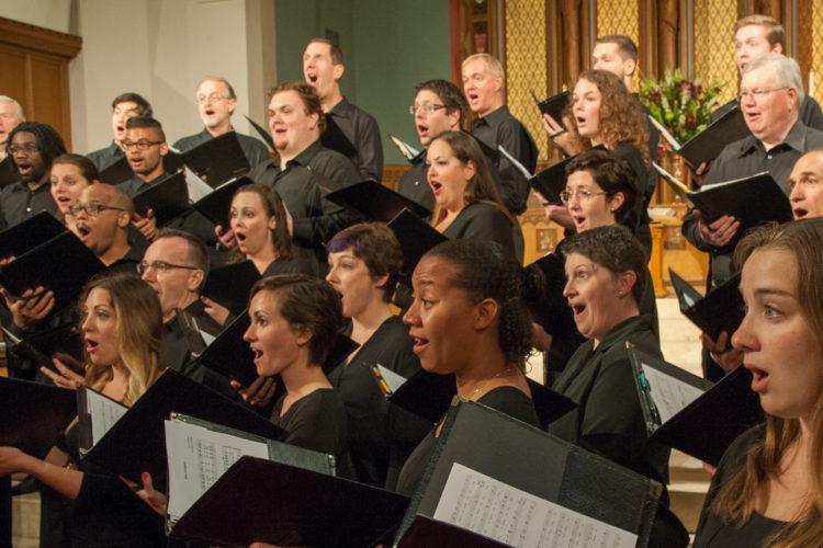 Bel Canto members singing - 2016