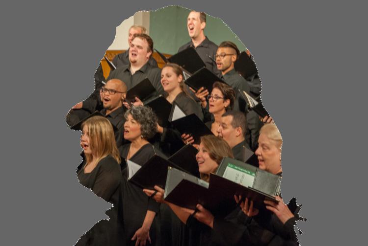 Bel Canto sings in Bach's sillouhette