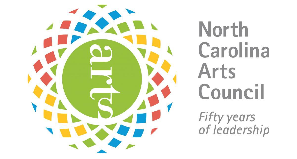 This project was supported by the North Carolina Arts Council, a division of the Department of Natural and Cultural Resources. (North Carolina Arts Council 50th Anniversary Logo)